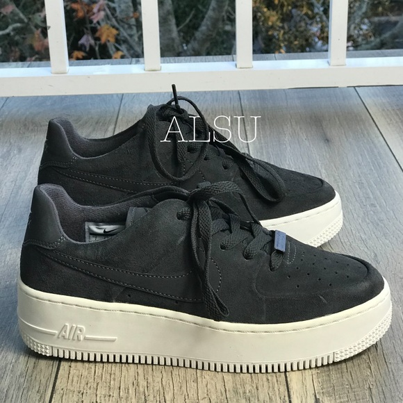 best service 132f7 52c76 Nike Air Force 1 Sage Low Suede Grey W AUTHENTIC